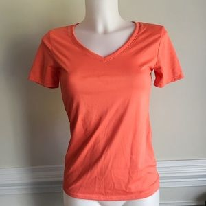 Nike orange v-neck t-shirt Sz XS